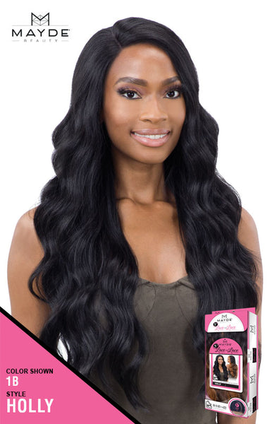 Mayde Beauty Lace & Lace 5 Inch Lace Part Synthetic Lace Front Wig - Holly