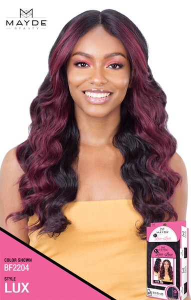 Mayde Beauty Lace & Lace 5 Inch Lace Part Synthetic Lace Front Wig - Lux