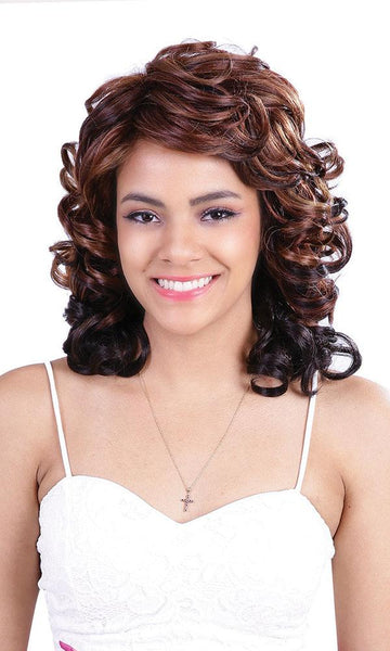 Diana Bohemian Pure Natural Synthetic Wig - Coco