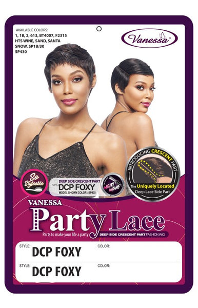 Vanessa Party Lace Side Crescent Part Wig - DCP Foxy