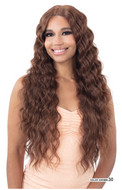 Mayde Beauty Lace & Lace 5 Inch HD Lace Part Synthetic Lace Front Wig - Deep Crimp Curl