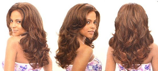 Vanessa Honey-2 Brazilian Human Hair Blend Lace Front Wig Denon - Beauty EmpireVanessa - 3