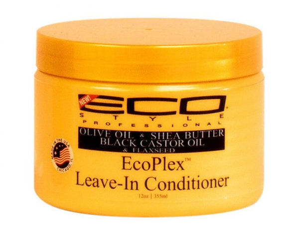 Eco Style Olive Oil & Shea Butter Black Castor Oil & Flaxseed EcoPlex Leave-In Conditioner - 12oz