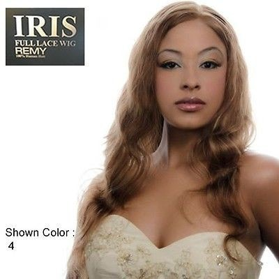 IRIS: Human Hair Slightly Wavy Lace Wig: Eunice 24 Inches - Beauty Empire