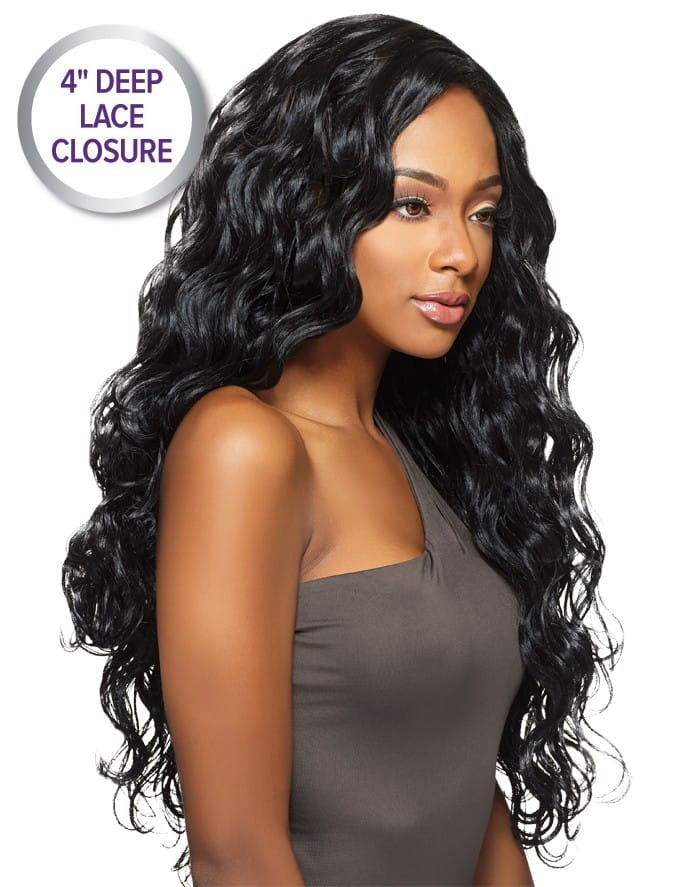 "Outre Purple Pack Brazilian Boutique Virgin Body 18"",20"",22""+4"" Closure"
