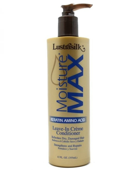 Lustrasilk Moisture Max Keratin Protein Leave-in Creme Conditioner 12 Fl. Oz - Beauty Empire