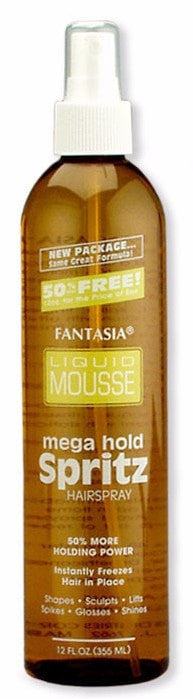 Fantasia Liquid Mousse Mega Hold Spritz Hairspray (12 Oz) - Beauty Empire