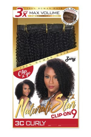 Zury Naturali Star Clip On 9 Pieces - 3C CURLY - Beauty Empire