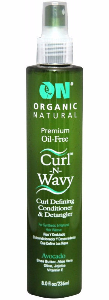 On Natural Premium Oil Free Remy Hair Curl-n-Wavy Curl Defining Conditioner & Detangler - Avocado (8 Oz) - Beauty Empire