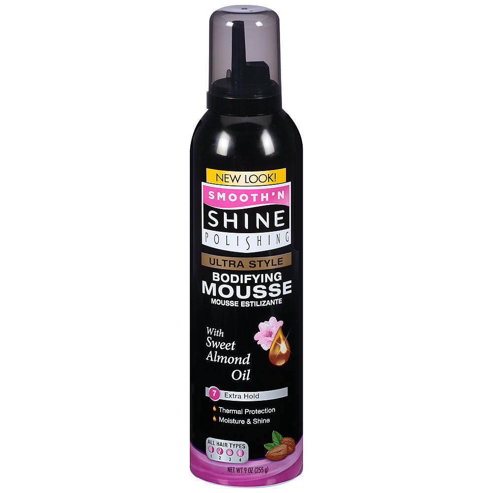 Smooth'N Shine Ultra Style Bodifing Mousse 7 Extra Hold (9 oz) - Beauty Empire