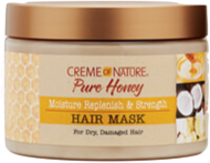 Creme Of Nature Pure Honey Moisture Replenish & Strength Hair Mask - 11.5oz - Beauty Empire