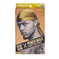 Red By Kiss Bow Wow Power Wave Velvet Luxe Durag - HDUPPV07 Gold