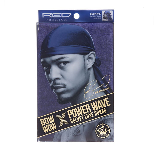 Red By Kiss Bow Wow Power Wave Velvet Luxe Durag - HDUPPV09 Royal Blue