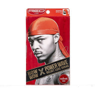 Red By Kiss Bow Wow Power Wave Velvet Luxe Durag - HDUPPV04 Red