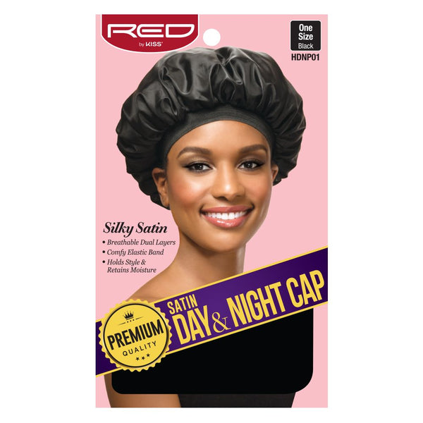 Red By Kiss Premium Satin Day & Night Cap - HDNP01 Black