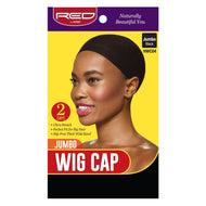 Red By Kiss Jumbo Wig Cap - HWC04 Black