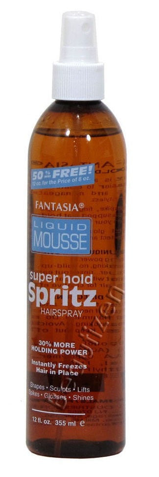 Fantasia Liquid Mousse Super Hold Spritz Hairspray (12 Oz) - Beauty Empire