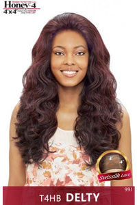 Vanessa Honey 4 Brazilian Human Hair Blend Lace Front Wig - T4HB Delty
