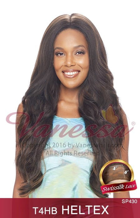 Vanessa Honey 4 Brazilian Human Hair Blend Lace Front Wig - T4HB Heltex - Beauty Empire