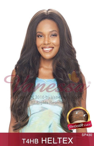Vanessa Honey 4 Brazilian Human Hair Blend Lace Front Wig - T4HB Heltex