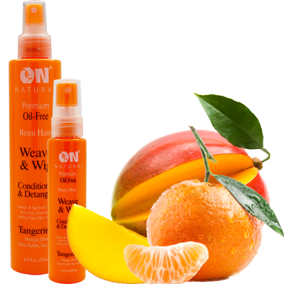 On Natural Premium Oil Free Remy Hair Curl-n-Wavy Curl Defining Conditioner & Detangler - Tangerine (8 Oz) - Beauty Empire