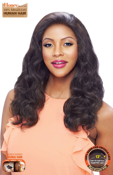 Vanessa Honey C Series 13X4 100% Brazilian Human Hair Hand-Tied Swissilk Deep Front Lace Front Wig - TH34 - Beauty Empire