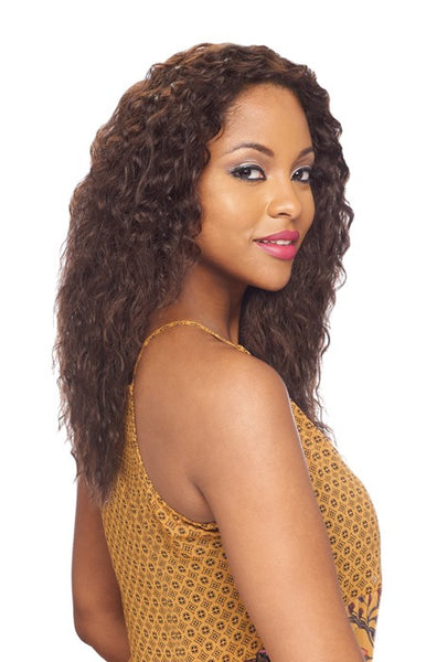 "Vanessa Honey 5""X5"" 100% Brazilian Human Hair Hand Tied Swissilk Deep Lace Front Wig - TH5NC Leean"