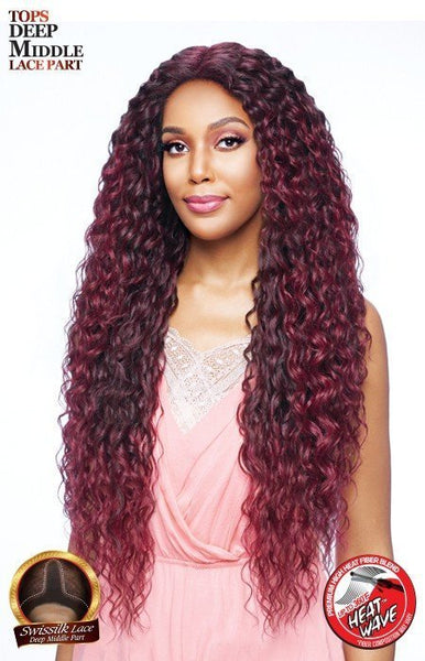 Vanessa Tops Deep Middle Lace Part Synthetic Lace Front Wig - Tops DM Alanta 38