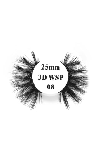 Retrotress 100% Hand Made 3D 25mm Wispy Lashes - 08