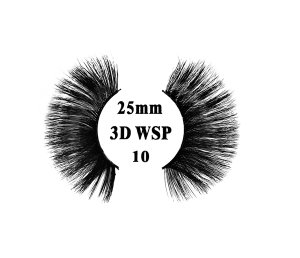 Retrotress 100% Hand Made 3D 25mm Wispy Lashes - 10