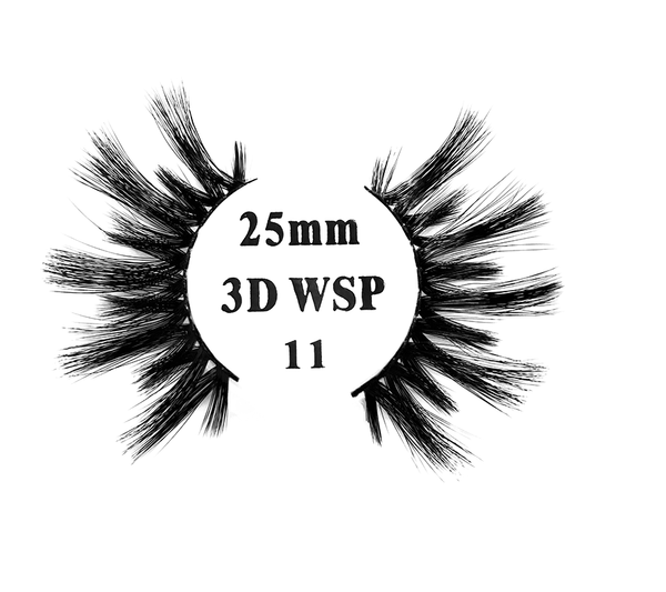 Retrotress 100% Hand Made 3D 25mm Wispy Lashes - 11