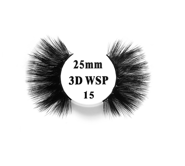 Retrotress 100% Hand Made 3D 25mm Wispy Lashes - 15