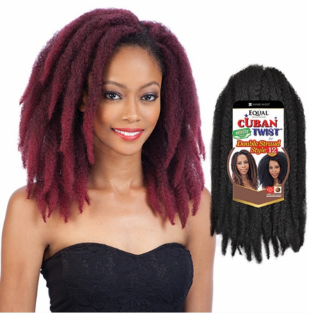 Freetress Equal Synthetic Hair Braids Double Strand Style Cuban Twist 12 Inches - Beauty Empire