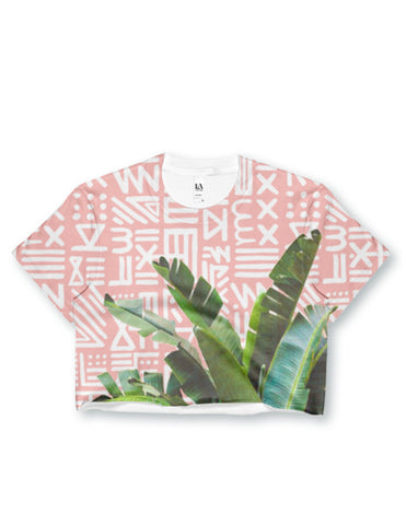 Alix Painted Palms Crop Top