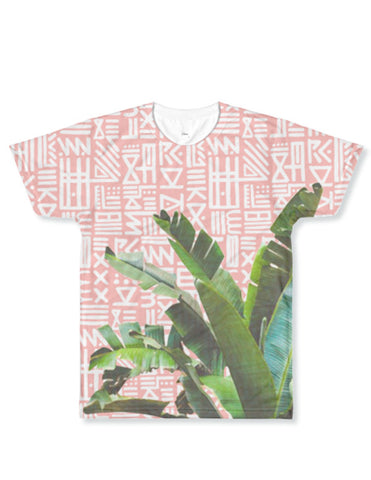Alix Painted Palm Rose Tee Shirt