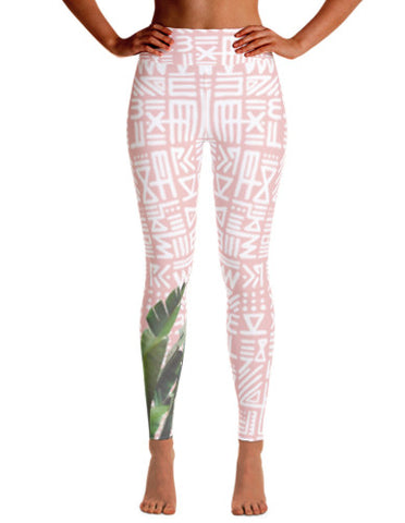 Alix Painted Palm Rose Leggings