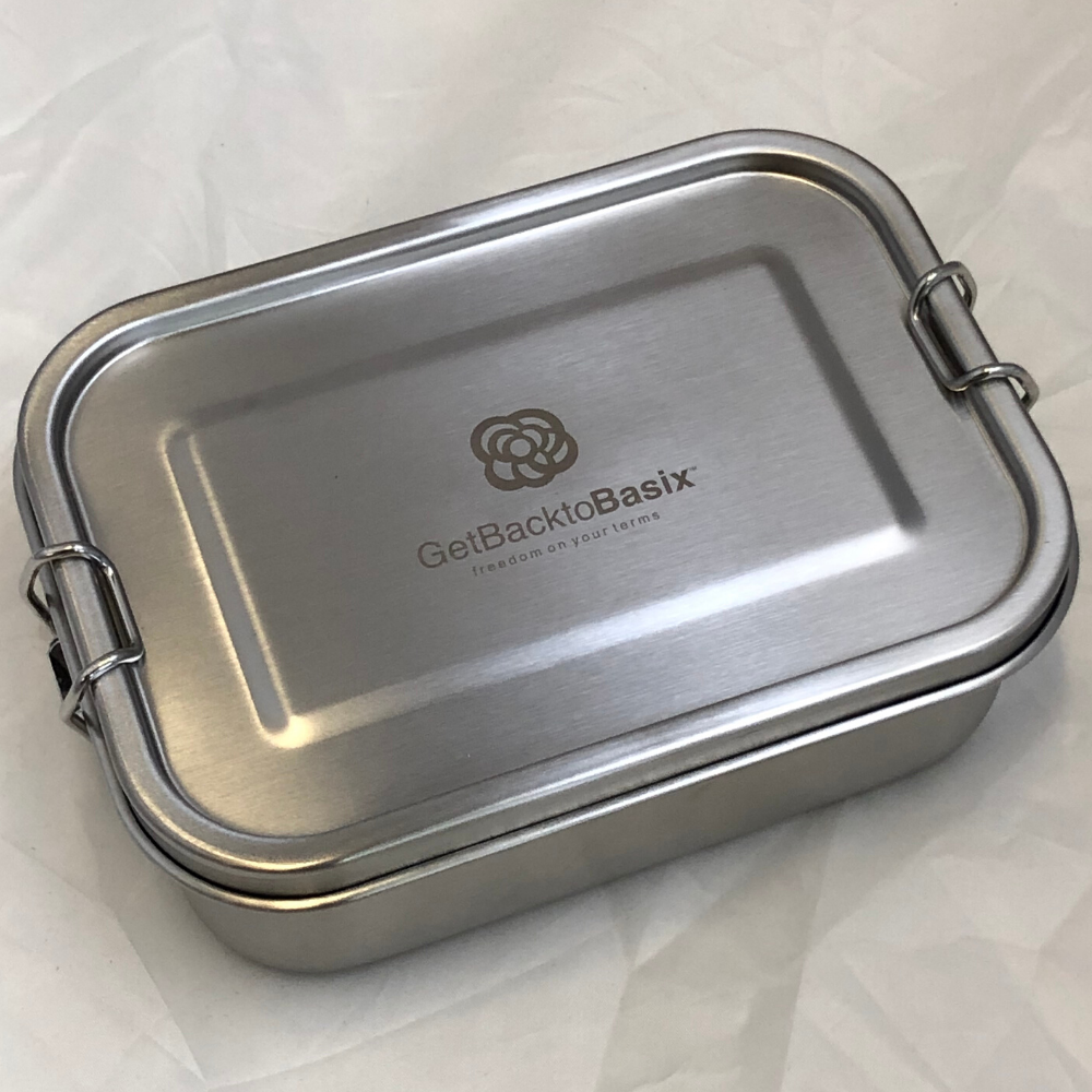 Stainless Steel Bento Lunch Box + Spork Combo