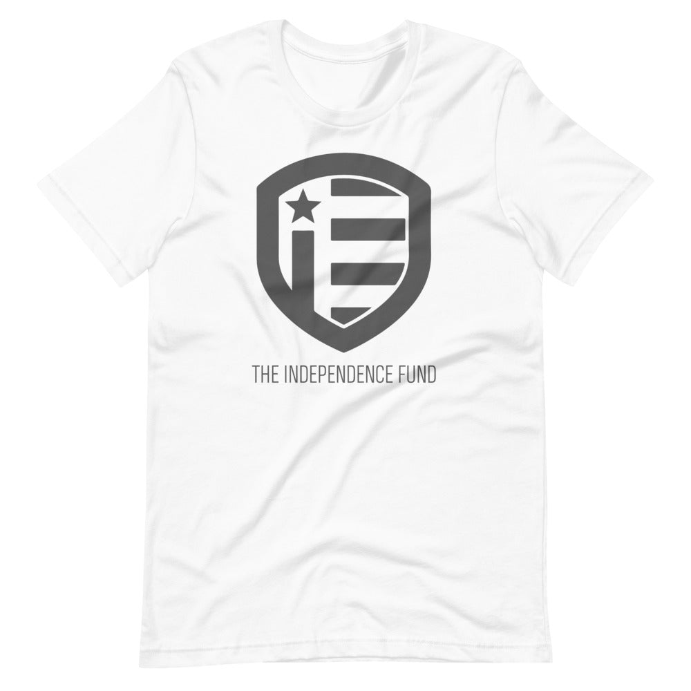 The Independence Fund Subdued Logo White T-Shirt