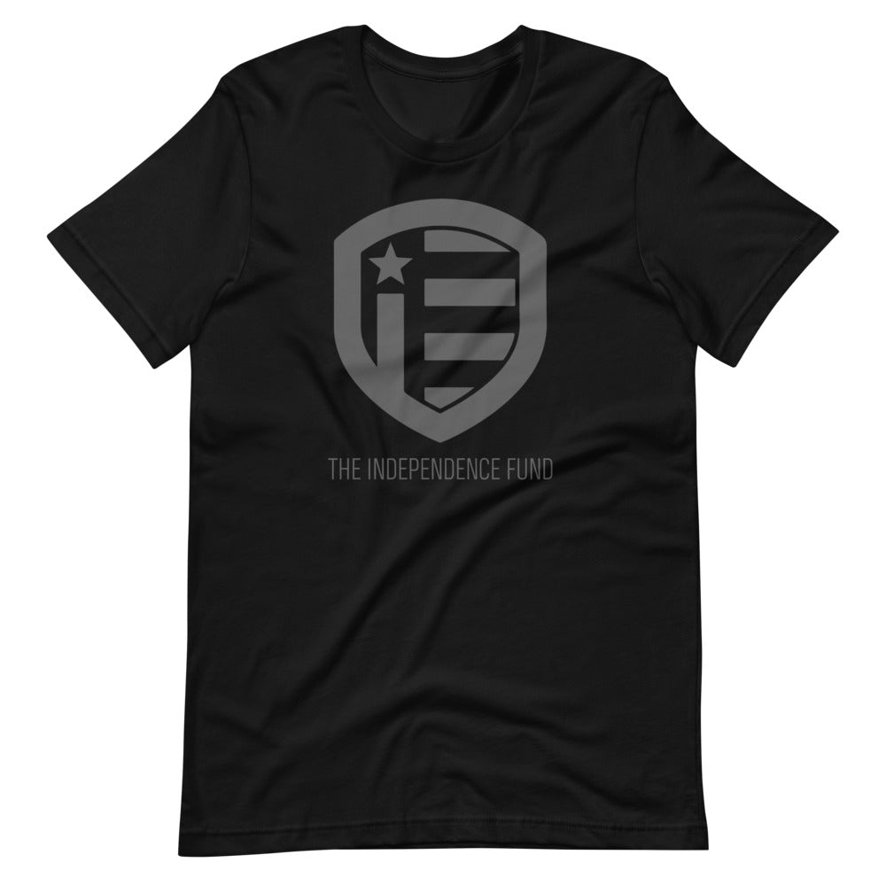 The Independence Fund Subdued Logo Black T-Shirt