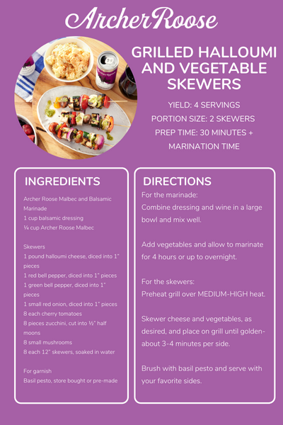Grilled Halloumi and Vegetable Skewer Recipe
