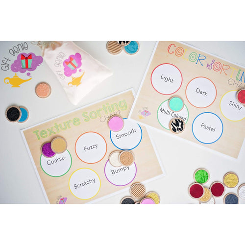 Preschool & kindergarten sensory sorting activity and match