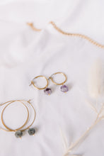 Load image into Gallery viewer, The amethyst hoops //