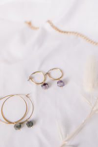 The amethyst hoops //