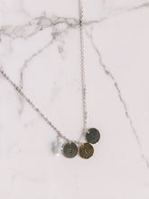 Load image into Gallery viewer, Hand stamped initial coin necklace //