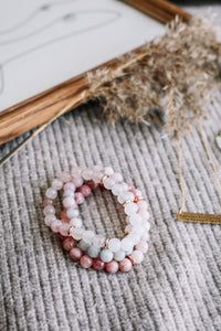 de Beauvoir gemstone bracelet stack //