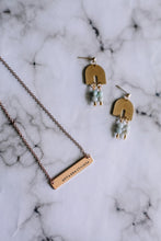 Load image into Gallery viewer, Unfuckwithable hand stamped bar layering necklace //