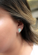 Load image into Gallery viewer, Raw amazonite stud earrings //
