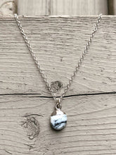 Load image into Gallery viewer, Dendritic opal silver dipped necklace //