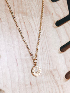 Compass layering necklace //