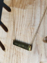 Load image into Gallery viewer, Fuck politeness hand stamped bar layering necklace //